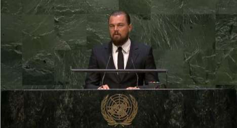 Global Environmental Governance - Leonardo DiCaprio's Climate Change Address Makes a Passionate Plea