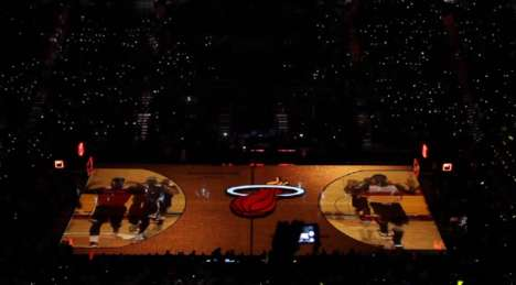 3D Projection Basketball Courts - The 76ers Basketball Court 3D Imaging Pumps Up Crowds Pre-Game