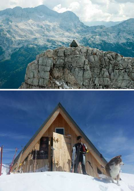 Mountain Top Cabins - People Can Enjoy a Free Place to Stay If They Climb 8303 Feet to Get There