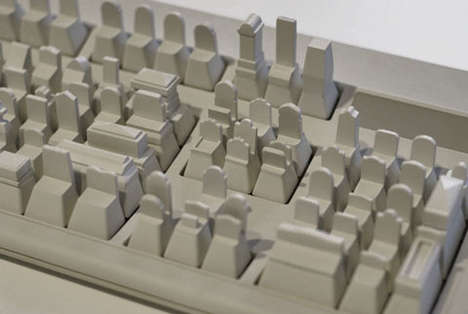 Architectural Keyboard Sculptures - This Paul Chan Artwork