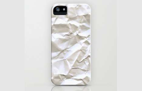 Faux Crumpled Phone Covers - White Trash iPhone Case Dresses Your Cell Down for Damage Protection
