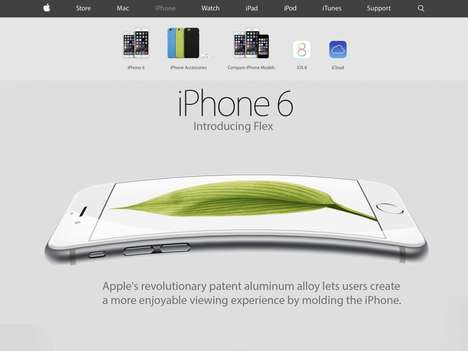 Flexing Phone Spoofs - This iPhone 6 Bending Spoof Turns a Flaw into a Best Feature