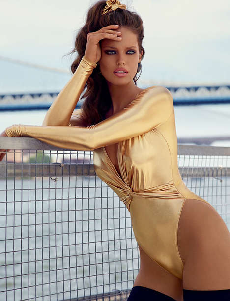 Retro Vixen Editorials - Vogue Spain's October Issue References Miami in the 80s