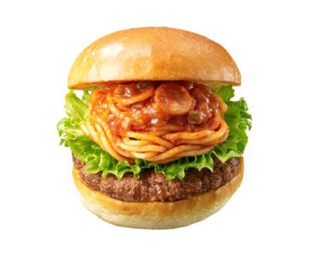 Pasta-Infused Burgers - Lotteria's Neapolitan Spaghetti Burger Comes Pre-Loaded with Pasta