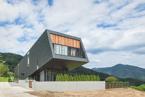 The Leaning House Gains Sunlight Because of Its Slanted Shape