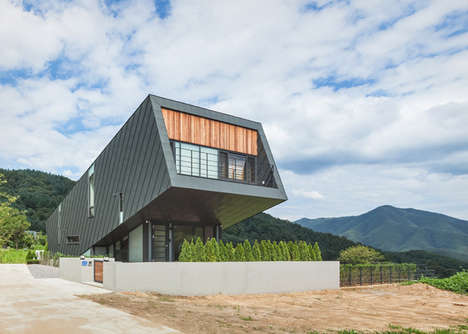 Dramatically Tilted Abodes - The Leaning House Gains Sunlight Because of Its Slanted Shape