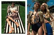 Summer Vacation Editorials - Glamoholic's Last Days of Summer Story Boasts Tropical Beach Fashions