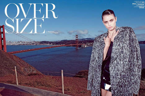 Oversized Fall Fashion - Marie Claire Italia's Taylor Marie Hill Feature Highlights Boxy Silhouettes