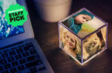Illuminated Photo Cubes - Cubee is Both Functional and Sentimental
