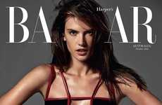 Body-Flaunting Editorials - The Alessandra Ambrosio Harper's Bazaar Australia Cover Shoot is Sensual