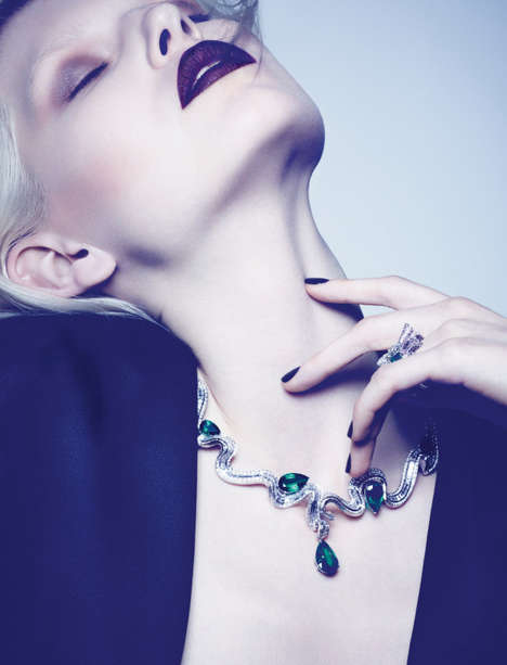 Glamorously Bejeweled Editorials - Ola Rudnicka Stars in Dior Magazine's Fall Issue