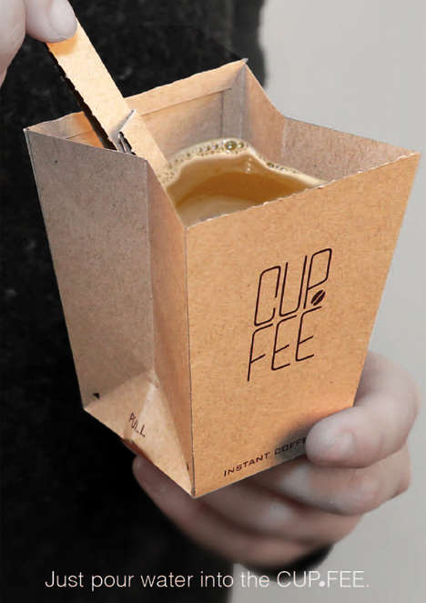 Brown Bag Coffee Designs - This Environmentally Friendly Coffee Cup Packaging is Recyclable
