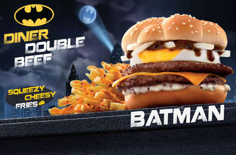 Vigilante Fast Food Meals - McDonald's Hong Kong is Serving The Brand's New Batman Burger