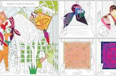 Fantastical Scarf Webshops - Hermes' Creative Webshop Design Whimsically Organizes Products