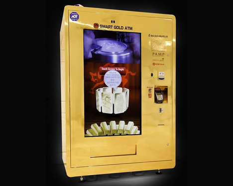 Gold Vending Machines - This Luxe Vending Machine Trades Cash for Pieces of Gold and Silver