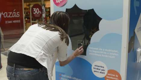 Interactive Shadow Booths - K&H's Interactive Mobile Ad Stages a Phone-Activated Shadow Play