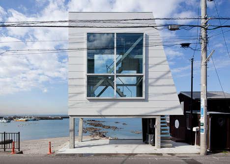Compact Seaside Residences - The Window House by Yasutaka Yoshimura is Stylish Small Space