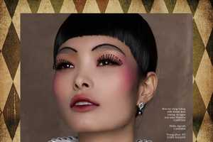 Elle Vietnam's Take a Bow Beauty Story is Circus-Themed