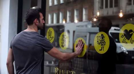 Touch-Activated Denim Ads - Hiut Denim Co.'s Interactive Shop Window Encourages People to Touch