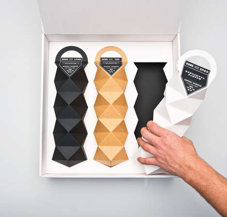 Accordion Bottle Boxes - Quartz Champagne Packaging Complements the Elaborate Flavors Within