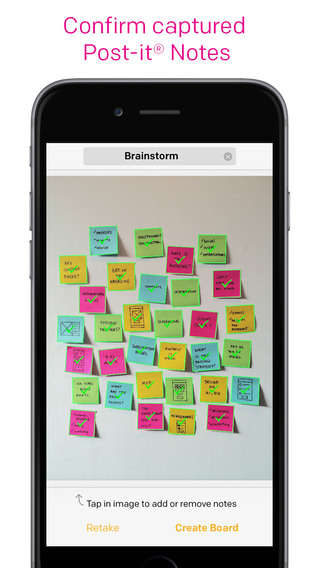 Organized Brainstorming Apps - The Post-It Plus App Helps Virtually Organize Physical Sticky Notes