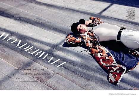 Modern 60s Fashion - The Latest Harper's Bazaar Japan Editorial Stars Tess Hellefeur