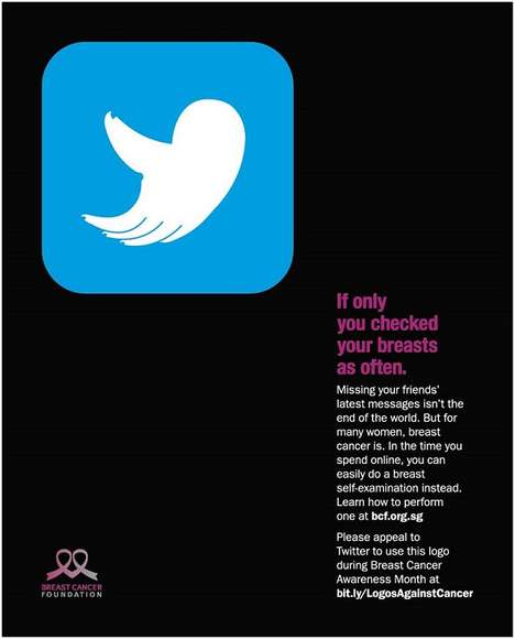 Grabby Cancer Ads - These Breast Cancer Ads Disguise Themselves as Social Media Logos