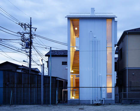 Slender Window Abodes - Takahashi Maki and Associates Build a Thin Home in Japan