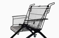 Shopping Cart Chairs - Xavier Degueldre Upcycles Old Carts for Seating