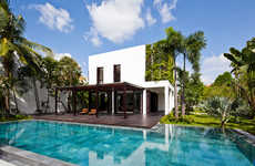 Monolithic White Volume Abodes - The Thao Dien House is Renovated to Look More Modern