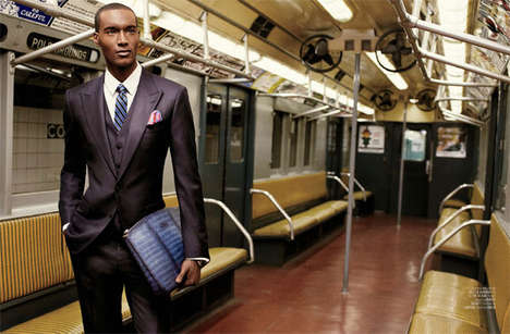 Professional Fall Fashion - Corey Baptiste Takes the Subway in August Man Malaysia's Elegant Story