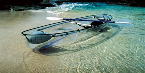 Transparent Kayaks - Molokini by Clear Blue Hawaii is Made out of Bulletproof Glass