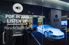 Multisensory Automotive Lounges - The Sound of Porsche Pop-Up is Like a Modern Record Store