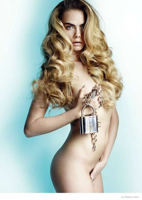 Stunning Nude Photoshoots - The Latest Issue of Allure Magazine Stars Cara Delevingne Naked