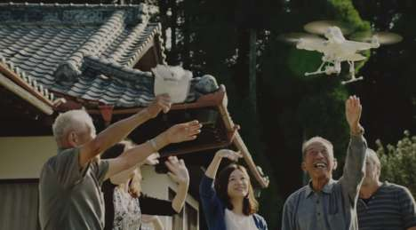 Friendly Drone Campaigns - Kirin's Beer Commercial Shows How You Can Meet a Bird-Shaped Drone