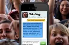 Civic Messaging Apps - The Tell Me About Politics App Ask Amy Lets Youth Ask Questions via Text