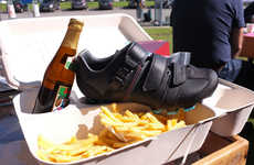 Frites Footwear Packaging - This Belgian Shoe Box has Compartments for Cyclocross Shoes and Beer