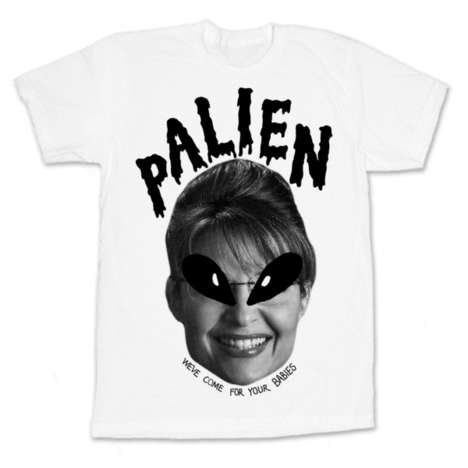 Extraterrestrial Politician Tees - This Sarah Palin T-Shirt Features an AlienVersion of the Governor