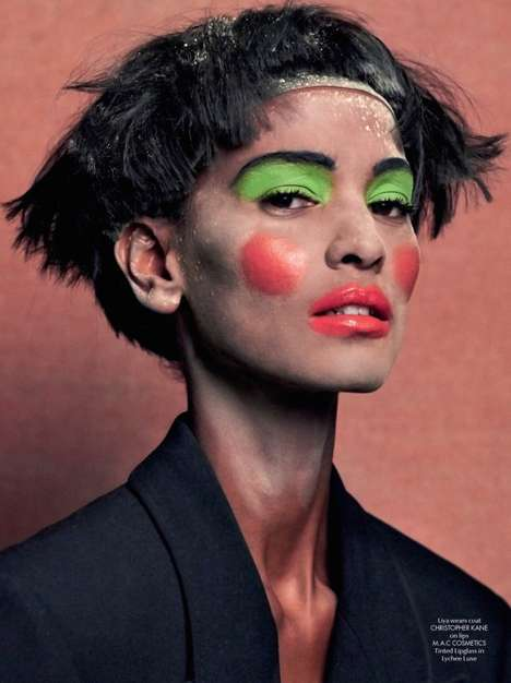 Bizarre Clownish Editorials - The CR Fashion Book #5 Features Some Garish Makeup