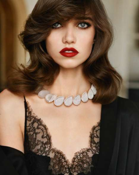Glamorous Old-School Editorials - Ms. Hartzel is the Picture of Grace Vogue Paris' October Issue
