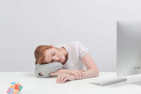 Handheld Napping Pillows - The Ostrich Mini is an Updated Version of the Larger Version