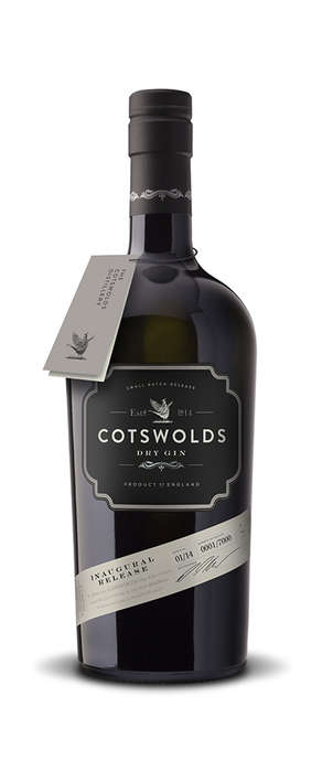 Minimalist Gin Branding - The Cotswolds Distillery Gin Has a Darkened and Masculine Look