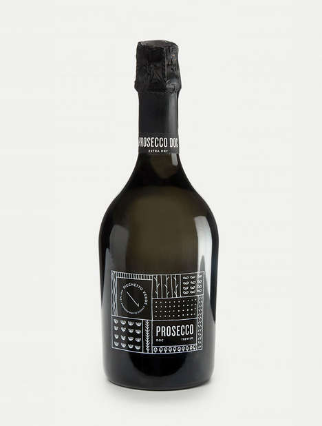 Illustrative Prosecco Packaging - Prosecco Picchetto Verde Has a Scribbled-Like Quality