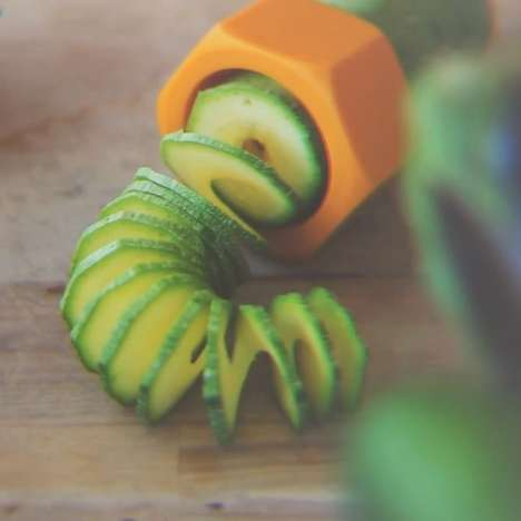 Spiraled Veggie Slicers - The Cucumbo Spiral Slicer Transforms Salads