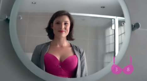 Camera-Embedded Bras - Nestlé FITNESS' Breast Cancer Awareness Campaign Involves a Hidden Camera