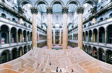 Wooden Maze Installations - The Big Maze at the National Building Museum is Immersive