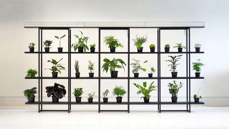 Self-Watering Plant Shelves - Pikaplant Designs Modern Vertical Garden for Negligent Plant Owners
