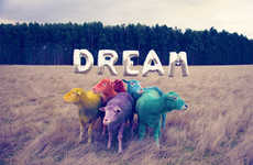Candy-Colored Sheep Photography - The Dream Series Inspires Us to Use Our Imaginations