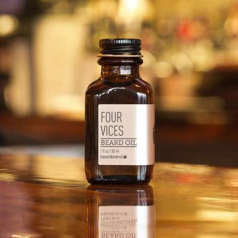 Oil-Based Beard Products - The Beardbrand Four Vices Collection Provides Facial Hair Care