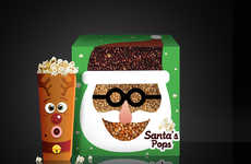 Festive Popcorn Boxes - This Fun Christmas Packaging Pops with Holiday Cheer